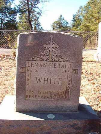 WHITE, LEMAN HERALD - Dallas County, Arkansas | LEMAN HERALD WHITE - Arkansas Gravestone Photos