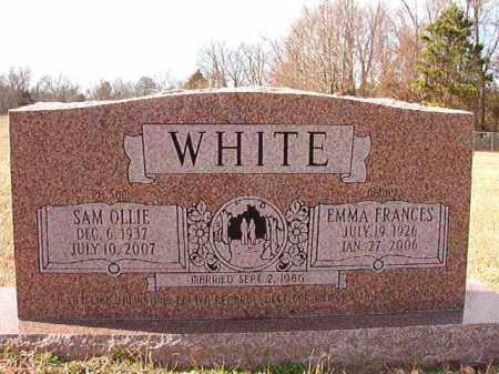 WHITE, EMMA FRANCES - Dallas County, Arkansas | EMMA FRANCES WHITE - Arkansas Gravestone Photos