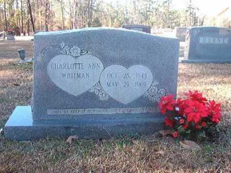 WHITMAN, CHARLOTTE ANN - Dallas County, Arkansas | CHARLOTTE ANN WHITMAN - Arkansas Gravestone Photos