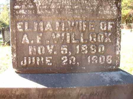 WILLCOX, ELMA M - Dallas County, Arkansas   ELMA M WILLCOX - Arkansas Gravestone Photos