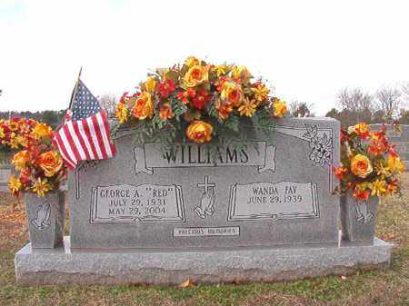 "WILLIAMS, GEORGE A ""RED"" - Dallas County, Arkansas | GEORGE A ""RED"" WILLIAMS - Arkansas Gravestone Photos"