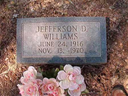 WILLIAMS, JEFFERSON D - Dallas County, Arkansas | JEFFERSON D WILLIAMS - Arkansas Gravestone Photos