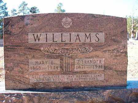 WILLIAMS, J LEANDER - Dallas County, Arkansas | J LEANDER WILLIAMS - Arkansas Gravestone Photos