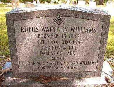 WILLIAMS, RUFUS WALSTIEN (BIO) - Dallas County, Arkansas   RUFUS WALSTIEN (BIO) WILLIAMS - Arkansas Gravestone Photos
