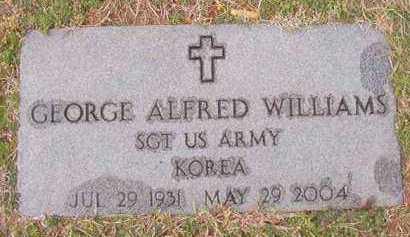 WILLIAMS (VETERAN KOR), GEORGE ALFRED - Dallas County, Arkansas   GEORGE ALFRED WILLIAMS (VETERAN KOR) - Arkansas Gravestone Photos
