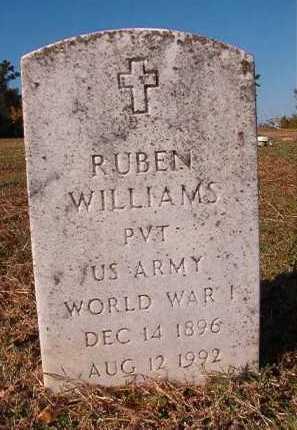 WILLIAMS (VETERAN WWI), RUBEN - Dallas County, Arkansas | RUBEN WILLIAMS (VETERAN WWI) - Arkansas Gravestone Photos