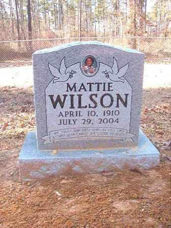 WILSON, MATTIE - Dallas County, Arkansas | MATTIE WILSON - Arkansas Gravestone Photos