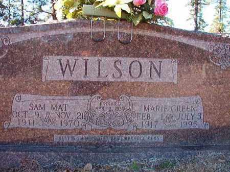 WILSON, SAM MAT - Dallas County, Arkansas | SAM MAT WILSON - Arkansas Gravestone Photos