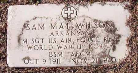 WILSON (VETERAN 2 WARS), SAM MAT - Dallas County, Arkansas | SAM MAT WILSON (VETERAN 2 WARS) - Arkansas Gravestone Photos