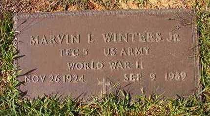 WINTERS, JR (VETERAN WWII), MARVIN L - Dallas County, Arkansas | MARVIN L WINTERS, JR (VETERAN WWII) - Arkansas Gravestone Photos