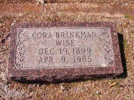 BRINKMAN WISE, CORA - Dallas County, Arkansas   CORA BRINKMAN WISE - Arkansas Gravestone Photos