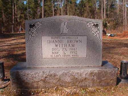 WITHAM, DIANNE - Dallas County, Arkansas | DIANNE WITHAM - Arkansas Gravestone Photos