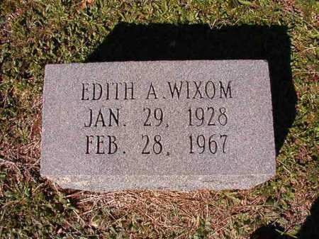 WIXOM, EDITH A - Dallas County, Arkansas   EDITH A WIXOM - Arkansas Gravestone Photos