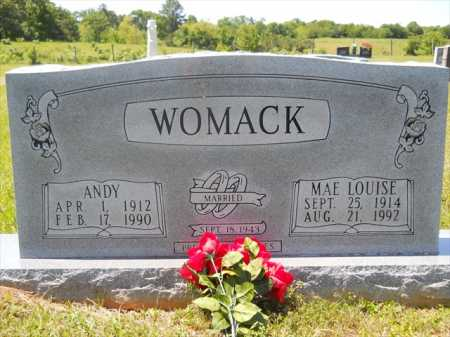 HALL WOMACK, MAE LOUISE - Dallas County, Arkansas | MAE LOUISE HALL WOMACK - Arkansas Gravestone Photos