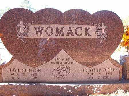 WOMACK, HUGH CLINTON - Dallas County, Arkansas | HUGH CLINTON WOMACK - Arkansas Gravestone Photos