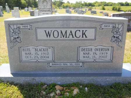 "WOMACK, HUEL ""BLACKIE"" - Dallas County, Arkansas | HUEL ""BLACKIE"" WOMACK - Arkansas Gravestone Photos"