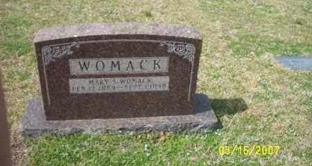 WOMACK, MARY S (SIMS) - Dallas County, Arkansas | MARY S (SIMS) WOMACK - Arkansas Gravestone Photos