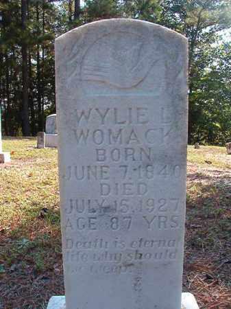 WOMACK, WYLIE L - Dallas County, Arkansas   WYLIE L WOMACK - Arkansas Gravestone Photos