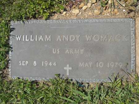 WOMACK (VETERAN), WILLIAM ANDY - Dallas County, Arkansas | WILLIAM ANDY WOMACK (VETERAN) - Arkansas Gravestone Photos