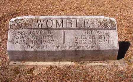 WOMBLE, RETTA - Dallas County, Arkansas | RETTA WOMBLE - Arkansas Gravestone Photos