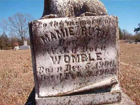 WOMBLE, MAMIE RUTH - Dallas County, Arkansas   MAMIE RUTH WOMBLE - Arkansas Gravestone Photos