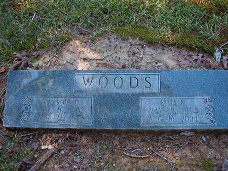 WOODS, ETHA N - Dallas County, Arkansas   ETHA N WOODS - Arkansas Gravestone Photos