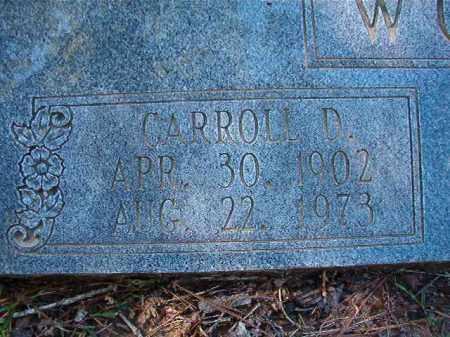 WOODS, CARROLL D - Dallas County, Arkansas   CARROLL D WOODS - Arkansas Gravestone Photos