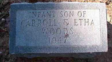 WOODS, INFANT SON - Dallas County, Arkansas   INFANT SON WOODS - Arkansas Gravestone Photos