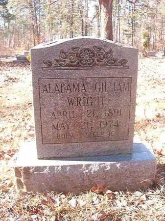 GILLIAM WRIGHT, ALABAMA - Dallas County, Arkansas | ALABAMA GILLIAM WRIGHT - Arkansas Gravestone Photos