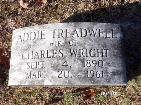 TREADWELL WRIGHT, ADDIE - Dallas County, Arkansas   ADDIE TREADWELL WRIGHT - Arkansas Gravestone Photos