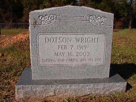 WRIGHT, DOTSON - Dallas County, Arkansas   DOTSON WRIGHT - Arkansas Gravestone Photos