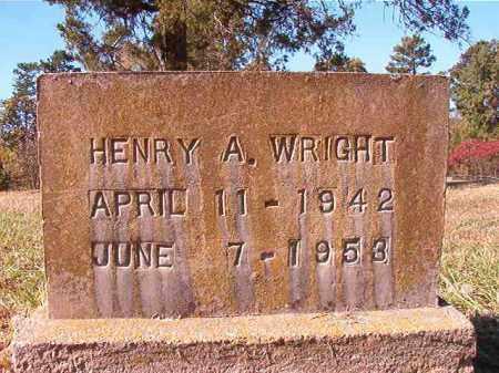 WRIGHT, HENRY A - Dallas County, Arkansas | HENRY A WRIGHT - Arkansas Gravestone Photos
