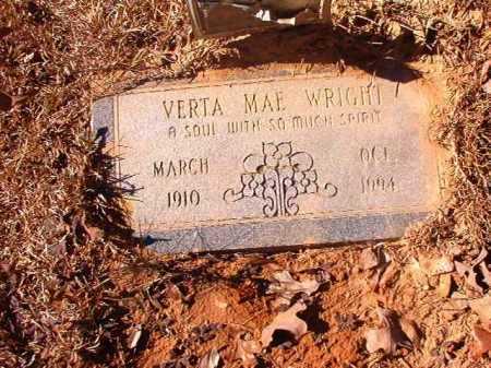 WRIGHT, VERTA MAE - Dallas County, Arkansas | VERTA MAE WRIGHT - Arkansas Gravestone Photos