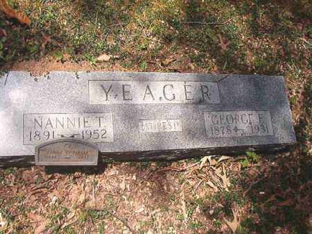 YEAGER, GEORGE E - Dallas County, Arkansas | GEORGE E YEAGER - Arkansas Gravestone Photos