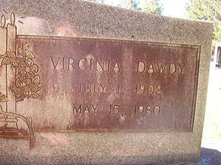 DAWDY YOUNG, VIRGINIA - Dallas County, Arkansas   VIRGINIA DAWDY YOUNG - Arkansas Gravestone Photos