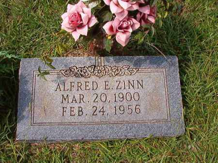 ZINN, ALFRED E - Dallas County, Arkansas | ALFRED E ZINN - Arkansas Gravestone Photos