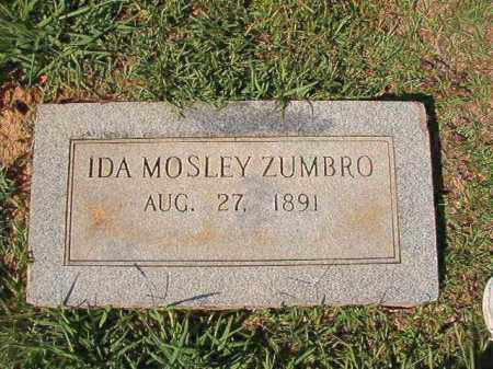 MOSLEY ZUMBRO, IDA - Dallas County, Arkansas | IDA MOSLEY ZUMBRO - Arkansas Gravestone Photos