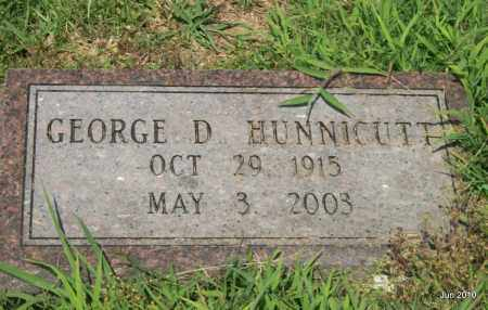 HUNNICUTT, GEORGE D - Desha County, Arkansas   GEORGE D HUNNICUTT - Arkansas Gravestone Photos
