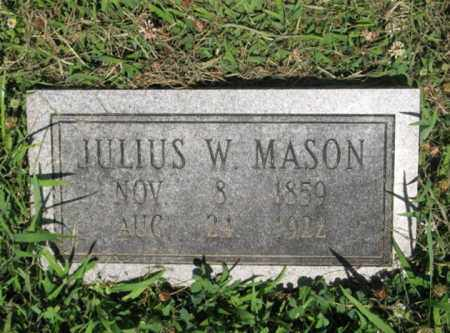 MASON, JULIUS W - Desha County, Arkansas | JULIUS W MASON - Arkansas Gravestone Photos