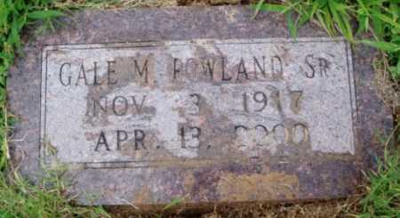 ROWLAND SR., GALE M. - Desha County, Arkansas   GALE M. ROWLAND SR. - Arkansas Gravestone Photos