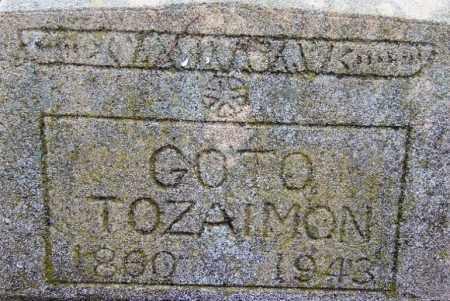 GOTO, TOZAIMON - Desha County, Arkansas   TOZAIMON GOTO - Arkansas Gravestone Photos