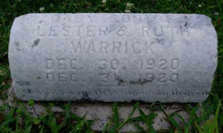 WARRICK, INFANT SON - Desha County, Arkansas | INFANT SON WARRICK - Arkansas Gravestone Photos