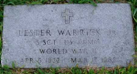 WARRICK, JR  (VETERAN WWII), LESTER - Desha County, Arkansas   LESTER WARRICK, JR  (VETERAN WWII) - Arkansas Gravestone Photos