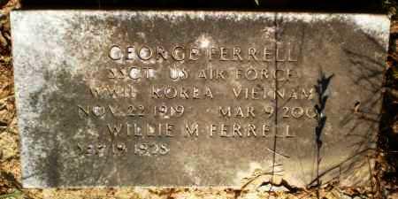 FERRELL (VETERAN 3 WARS), GEORGE - Drew County, Arkansas | GEORGE FERRELL (VETERAN 3 WARS) - Arkansas Gravestone Photos