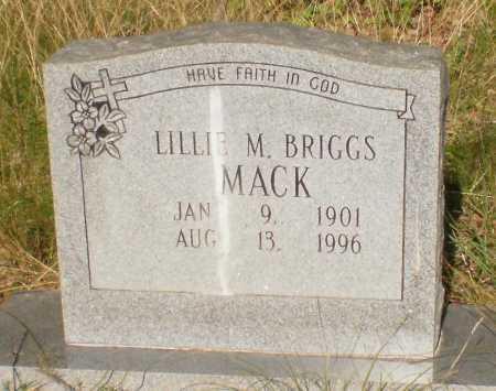 BRIGGS MACK, LILLIE M - Drew County, Arkansas | LILLIE M BRIGGS MACK - Arkansas Gravestone Photos