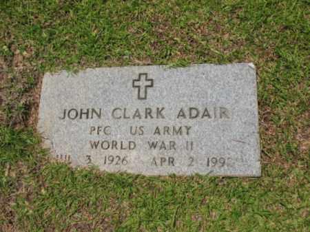 ADAIR (VETERAN WWII), JOHN CLARK - Drew County, Arkansas   JOHN CLARK ADAIR (VETERAN WWII) - Arkansas Gravestone Photos