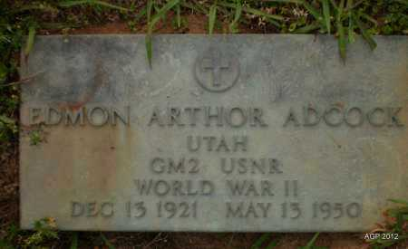 ADCOCK (VETERAN WWII), EDMON ARTHOR - Drew County, Arkansas | EDMON ARTHOR ADCOCK (VETERAN WWII) - Arkansas Gravestone Photos