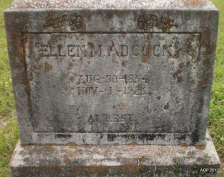 ADCOCK, ELLEN M - Drew County, Arkansas   ELLEN M ADCOCK - Arkansas Gravestone Photos
