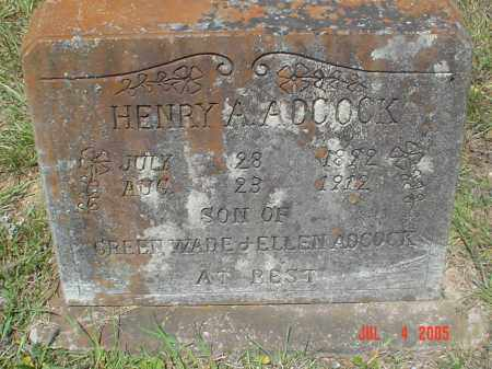 ADCOCK (VETERAN CSA), HENRY ALFRED - Drew County, Arkansas   HENRY ALFRED ADCOCK (VETERAN CSA) - Arkansas Gravestone Photos