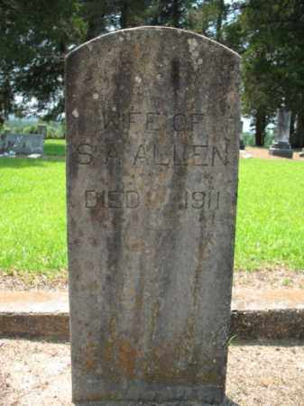 ALLEN, MRS S A - Drew County, Arkansas | MRS S A ALLEN - Arkansas Gravestone Photos